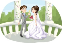 Wedding Vectors - Mega Bundle - Wedding Couple in Gazebo 2