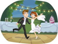 Wedding Vectors - Mega Bundle - Groom and Bride Dancing