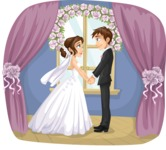 Wedding Vectors - Mega Bundle - Bride and Groom by the Window