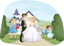 Wedding Vectors - Mega Bundle - Wedding Couple with Guests