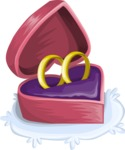 Wedding Vectors - Mega Bundle - Heart Shaped Ring Box