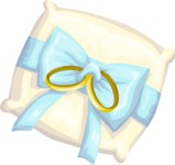 Wedding Vectors - Mega Bundle - Ring Bearer Pillow 1