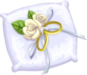 Wedding Vectors - Mega Bundle - Ring Bearer Pillow 2