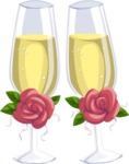 Wedding Vectors - Mega Bundle - Wedding Champagne Glasses
