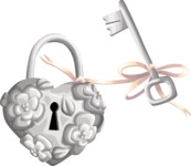 Wedding Vectors - Mega Bundle - Wedding Padlock and Key