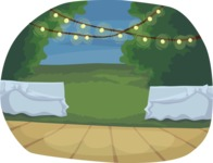 Wedding Vectors - Mega Bundle - Outdoor Dance Floor