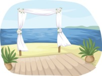 Wedding Vectors - Mega Bundle - Beach Wedding Decor