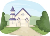 Wedding Vectors - Mega Bundle - Church Scenery