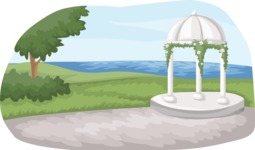 Wedding Vectors - Mega Bundle - Wedding Dome Gazebo