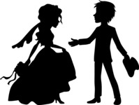 Wedding Vectors - Mega Bundle - Groom Reaching Towards Bride