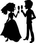 Wedding Vectors - Mega Bundle - Bride and Groom Toasting