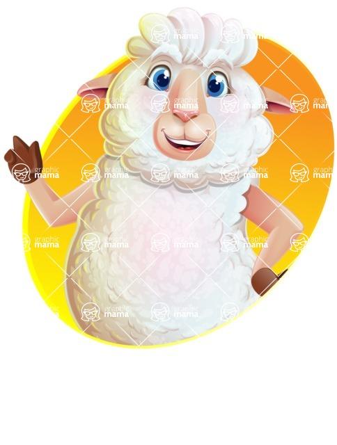 White Sheep Cartoon Vector Character - Shape 1