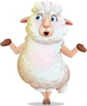 White Sheep Cartoon Vector Character - Feeling Lost