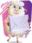 White Sheep Cartoon Vector Character - Shape 11