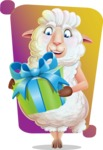 White Sheep Cartoon Vector Character - Shape 5