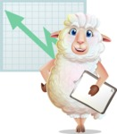 White Sheep Cartoon Vector Character - Shape 6