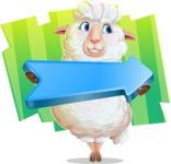 White Sheep Cartoon Vector Character - Shape 8