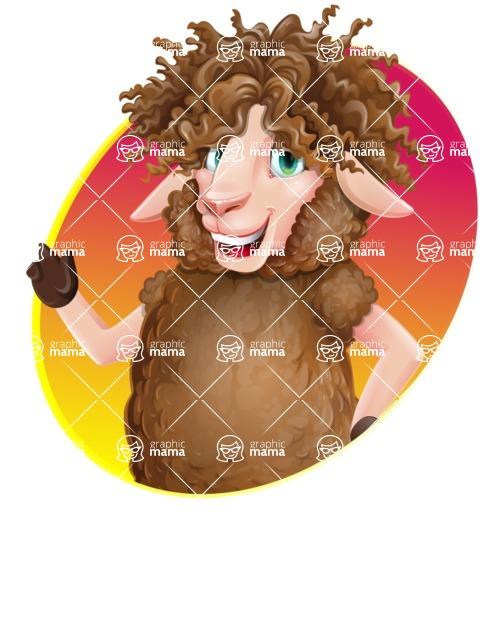Cartoon Sheep Vector Character - Shape 1