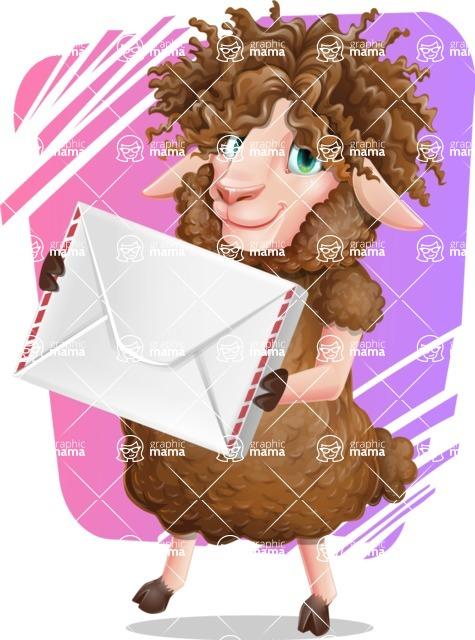 Cartoon Sheep Vector Character - Shape 11