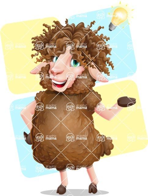 Cartoon Sheep Vector Character - Shape 12