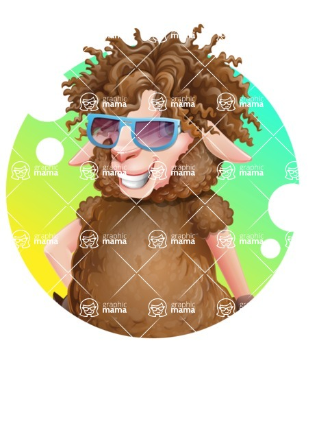 Cartoon Sheep Vector Character - Shape 2