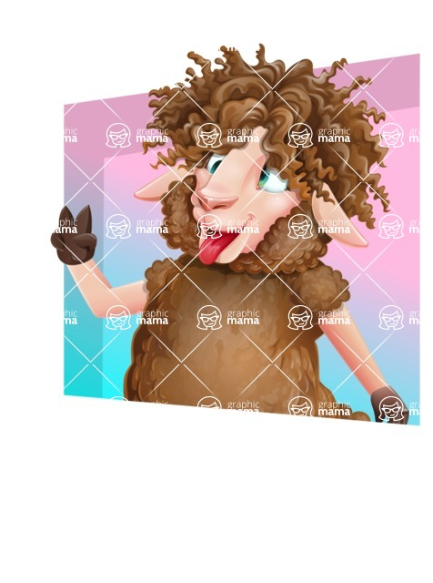 Cartoon Sheep Vector Character - Shape 3