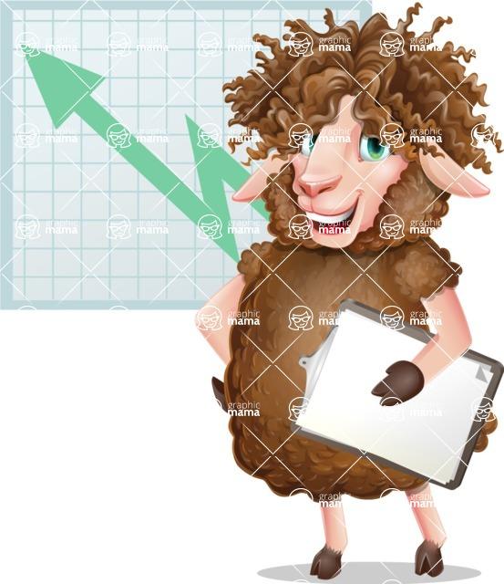 Cartoon Sheep Vector Character - Shape 6
