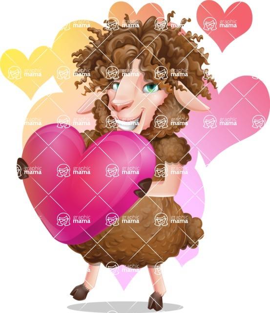 Cartoon Sheep Vector Character - Shape 7