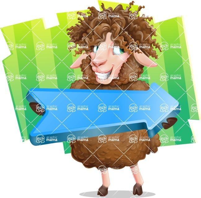 Cartoon Sheep Vector Character - Shape 8