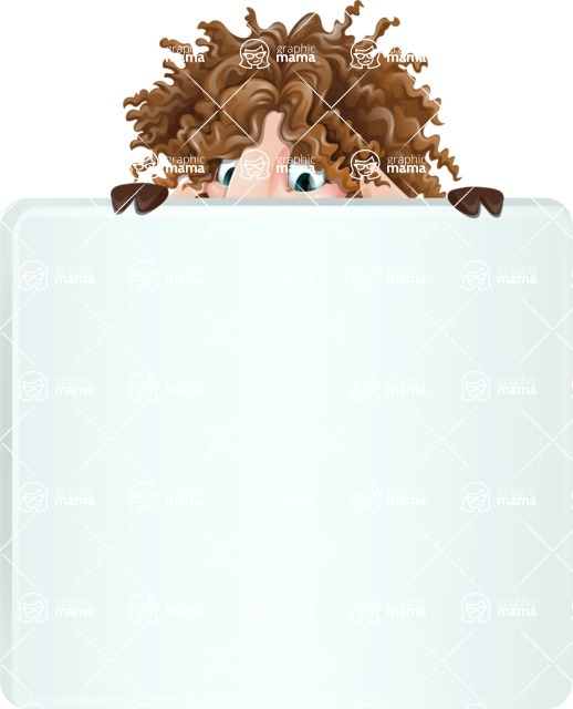 Cartoon Sheep Vector Character - with a Blank Presentation sign
