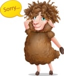 Cartoon Sheep Vector Character - Feeling sorry