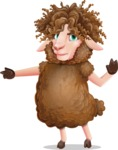 Cartoon Sheep Vector Character - Finger pointing with angry face