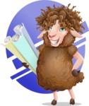 Cartoon Sheep Vector Character - Shape 10