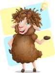 Cartoon Sheep Vector Character - Shape 12