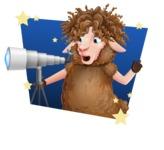 Cartoon Sheep Vector Character - Shape 4