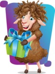 Cartoon Sheep Vector Character - Shape 5