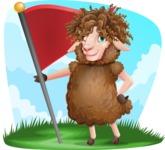 Cartoon Sheep Vector Character - Shape 9