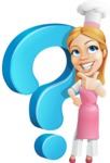 Cute Cooking Housewife Cartoon Vector Character AKA Charlotte Cabernet - With Question Mark