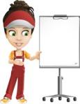 Courier Girl Cartoon Vector Character AKA Hailey the Jumpsuited - Presentation 2
