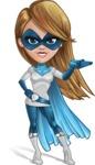 Pretty Superhero Woman Cartoon Vector Character AKA Tina Rocket - Show 1