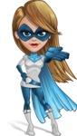 Pretty Superhero Woman Cartoon Vector Character AKA Tina Rocket - Show 5