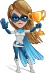 Pretty Superhero Woman Cartoon Vector Character AKA Tina Rocket - Winner