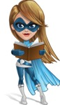 Pretty Superhero Woman Cartoon Vector Character AKA Tina Rocket - Book