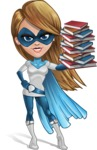Pretty Superhero Woman Cartoon Vector Character AKA Tina Rocket - Books 3