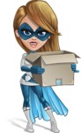 Pretty Superhero Woman Cartoon Vector Character AKA Tina Rocket - Delivery 2