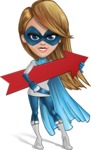 Pretty Superhero Woman Cartoon Vector Character AKA Tina Rocket - Arrow 2