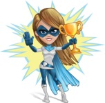 Pretty Superhero Woman Cartoon Vector Character AKA Tina Rocket - Shape 8