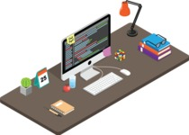 Vector Office Desk Graphic Maker - Business Desk
