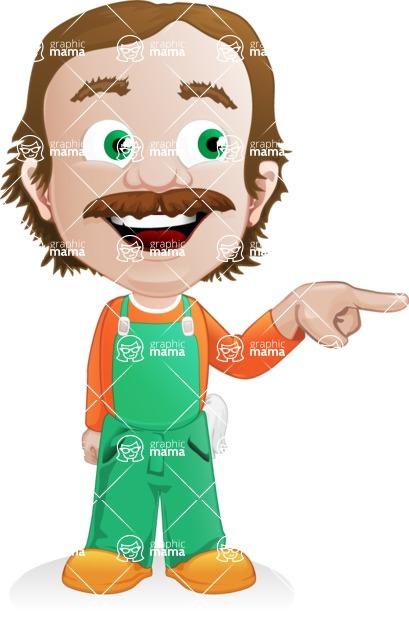 Builder Man Cartoon Vector Character AKA Marcelino Toolbox - Point 2