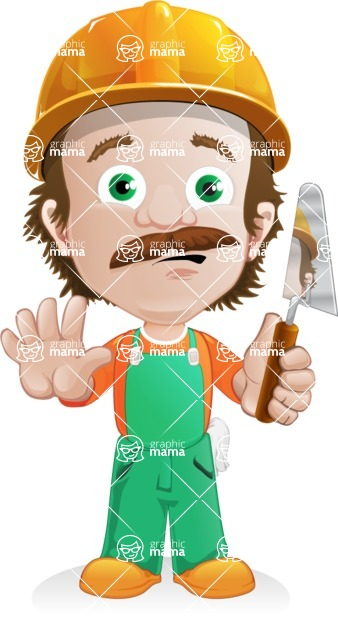 Builder Man Cartoon Vector Character AKA Marcelino Toolbox - Under Construction2